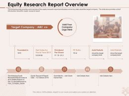 Equity Research Report Overview Dividend Share Ppt Powerpoint Presentation File Graphics Design