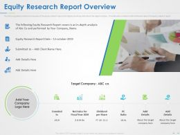 Equity Research Report Overview Ppt Powerpoint Presentation Good