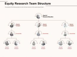 Equity Research Team Structure Junior Analyst Ppt Powerpoint Presentation Pictures Layout