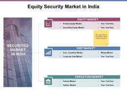 Equity Security Market In India Ppt Powerpoint Presentation File Clipart
