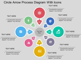Er Circle Arrow Process Diagram With Icons Flat Powerpoint Design