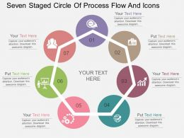 er Seven Staged Circle Of Process Flow And Icons Flat Powerpoint Design
