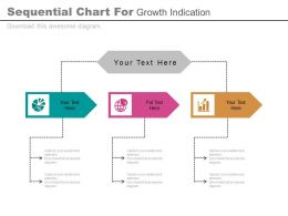 er Three Staged Sequential Chart For Growth Indication Flat Powerpoint Design