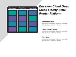 Ericsson Cloud Open Stack Liberty State Router Platform