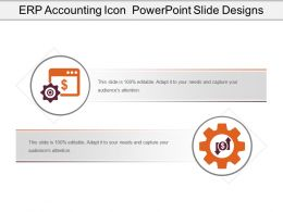 Erp Accounting Icon Powerpoint Slide Designs