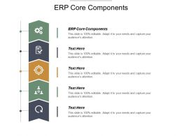 ERP Core Components Ppt Powerpoint Presentation Pictures Structure Cpb