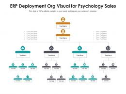 ERP Deployment Org Visual For Psychology Sales Infographic Template