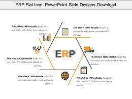 Erp Flat Icon Powerpoint Slide Designs Download