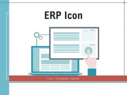 ERP Icon Business Integration Collaboration Management Resource