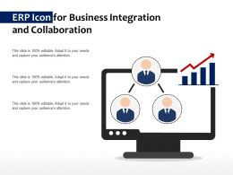 ERP Icon For Business Integration And Collaboration