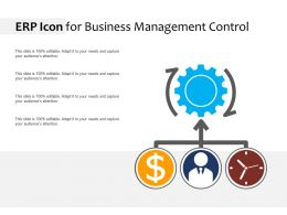 ERP Icon For Business Management Control