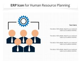 ERP Icon For Human Resource Planning