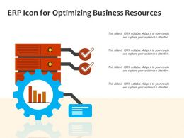ERP Icon For Optimizing Business Resources