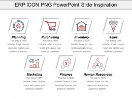 Erp Icon Png Powerpoint Slide Inspiration