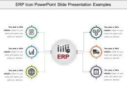 Erp Icon Powerpoint Slide Presentation Examples