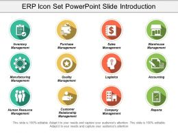 Erp Icon Set Powerpoint Slide Introduction
