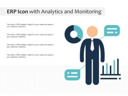 ERP Icon With Analytics And Monitoring
