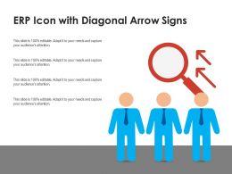 ERP Icon With Diagonal Arrow Signs