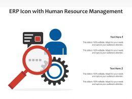 ERP Icon With Human Resource Management