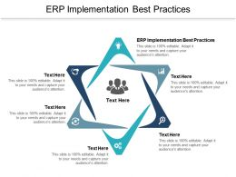 ERP Implementation Best Practices Ppt Powerpoint Presentation Layouts Slides Cpb