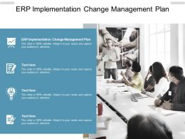ERP Implementation Change Management Plan Ppt Powerpoint Presentation Styles Cpb
