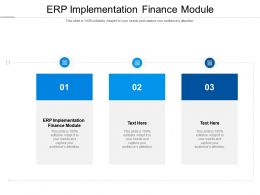 ERP Implementation Finance Module Ppt Powerpoint Presentation Portfolio Slideshow Cpb