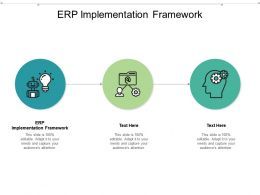 ERP Implementation Framework Ppt Powerpoint Presentation Styles Mockup Cpb