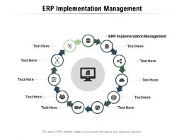 ERP Implementation Management Ppt Powerpoint Presentation Infographic Template Cpb