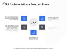 Erp Implementation Selection Phase Growth Checklist Ppt Powerpoint Presentation Icon Mockup