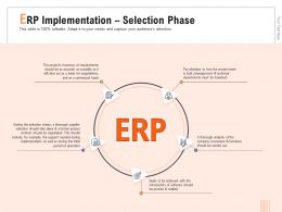 ERP Implementation Selection Phase Operation M716 Ppt Powerpoint Presentation File Guide