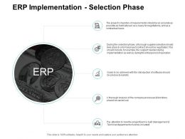 ERP Implementation Selection Phase Ppt Powerpoint Presentation Model Graphics