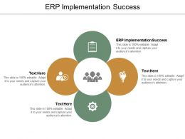 ERP Implementation Success Ppt Powerpoint Presentation Model Background Image Cpb