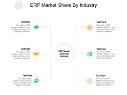 ERP Market Share By Industry Ppt Powerpoint Presentation Show Introduction Cpb