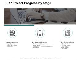 ERP Project Progress By Stage Ppt Powerpoint Presentation Slides Layout