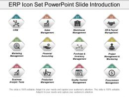 Erp Services Icon Powerpoint Slide Presentation Guidelines