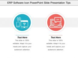 Erp Software Icon Powerpoint Slide Presentation Tips