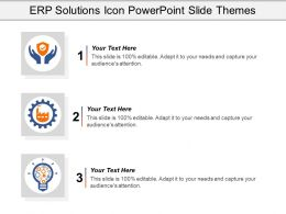 Erp Solutions Icon Powerpoint Slide Themes