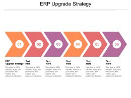 ERP Upgrade Strategy Ppt Powerpoint Presentation File Topics Cpb