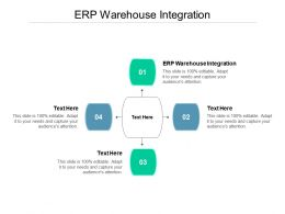 ERP Warehouse Integration Ppt Powerpoint Presentation Icon Templates Cpb
