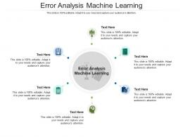Error Analysis Machine Learning Ppt Powerpoint Presentation Professional Icon Cpb