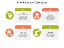 Error Detection Techniques Ppt Powerpoint Presentation Show Objects Cpb
