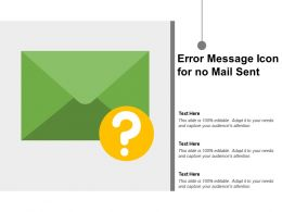 Error Message Icon For No Mail Sent