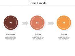 Errors Frauds Ppt Powerpoint Presentation Ideas Show Cpb
