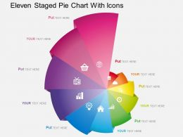 es Eleven Staged Pie Chart With Icons Powerpoint Template