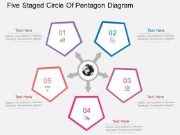 es Five Staged Circle Of Pentagon Diagram Flat Powerpoint Design