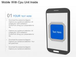 es Mobile With Cpu Unit Inside Powerpoint Template