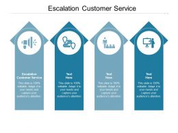 Escalation Customer Service Ppt Powerpoint Presentation Icon Topics Cpb