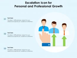 Escalation Icon For Personal And Professional Growth