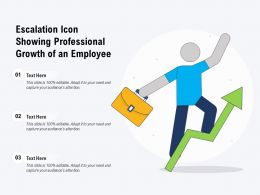 Escalation Icon Showing Professional Growth Of An Employee