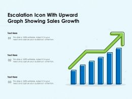 Escalation Icon With Upward Graph Showing Sales Growth